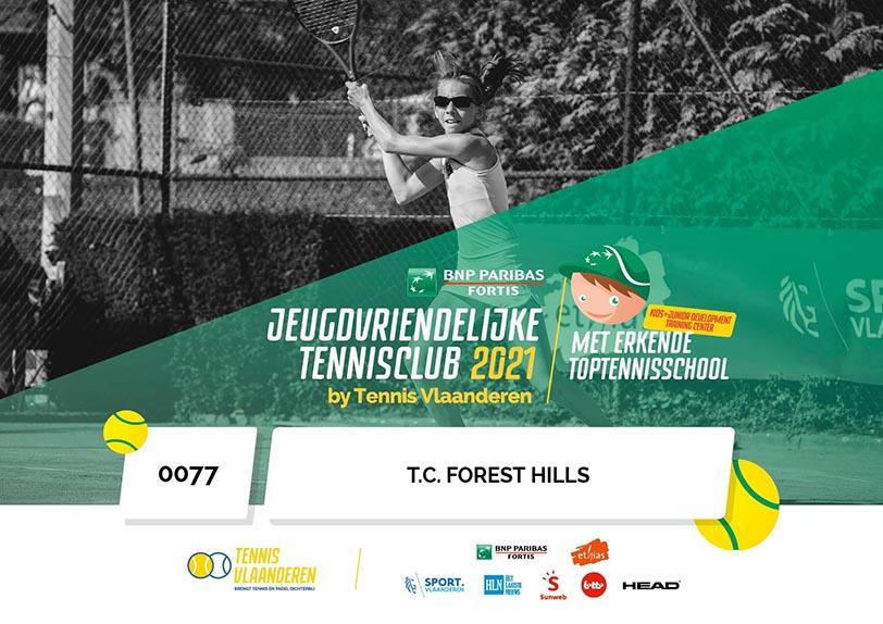 T.C. Forest Hills - Jeugdvriendelijke tennisclub 2021 - Tennis Vlaanderen
